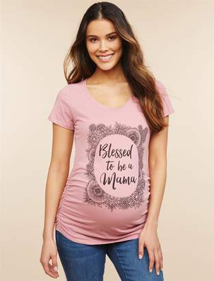 Motherhood Maternity Blessed To Be A Mama Maternity Tee