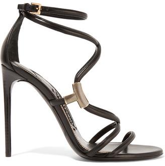 TOM FORD - Embellished Leather Sandals - Black $1,290 thestylecure.com