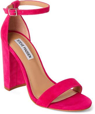 Steve Madden Hot Pink Carrson Ankle Strap Suede Sandals