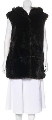 Thakoon Hooded Faux Fur Vest
