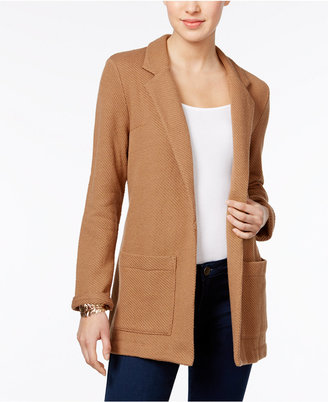 Style & Co Open-Front Knit Blazer, Only at Macy's $69.50 thestylecure.com