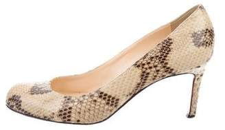 Christian Louboutin Snakeskin Simple Pumps