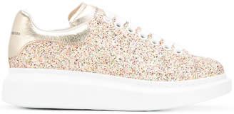 Alexander McQueen extended sole glitter sneakers