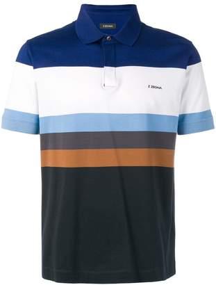 Ermenegildo Zegna colour block polo shirt