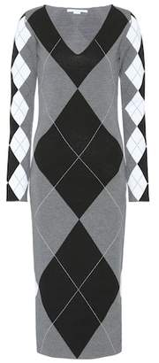 Stella McCartney Argyle wool-blend dress