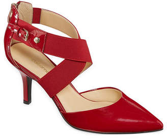 Liz Claiborne Keegan Womens Pumps Elastic Pointed Toe Stiletto Heel
