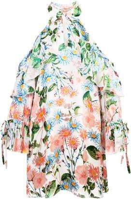 Alice + Olivia Alice+Olivia floral cold shoulder dress
