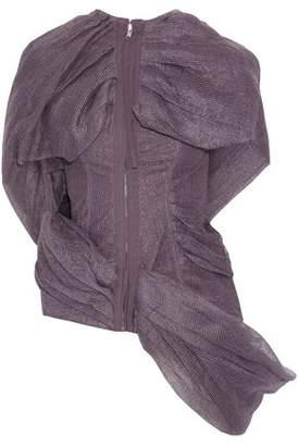 Rick Owens Draped Linen-Gauze And Stretch-Cotton Vest