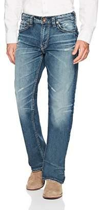 Silver Jeans Men's Gordie Straight Leg Medium Wash Jean