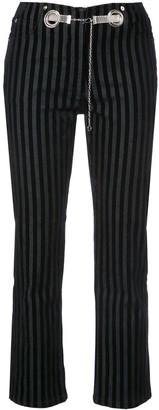 Morgan Miaou striped velvet pant