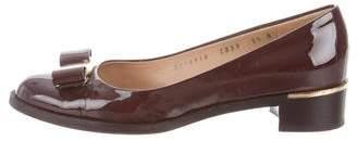 Salvatore Ferragamo Patent Leather Vara Bow Flats