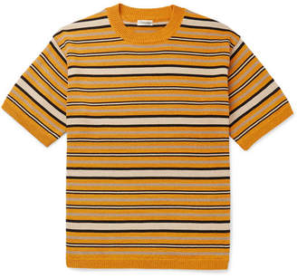 Camoshita Striped Knitted Sweater - Men - Yellow