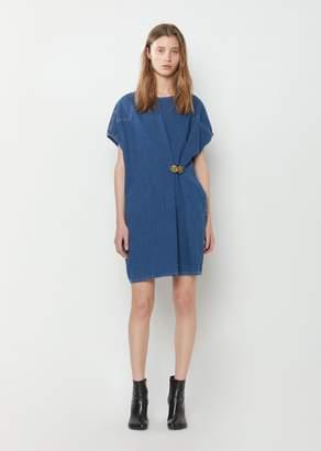 MM6 MAISON MARGIELA 80's Wash Denim Dress Medium Blue