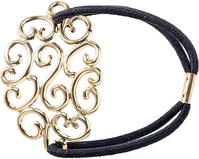 Karina Vintage Gold Ponytail Holder