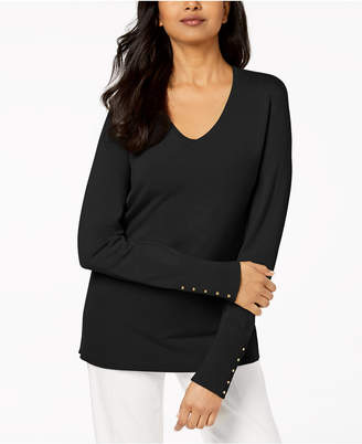 JM Collection Ribbed Sweater, Created for Macy's