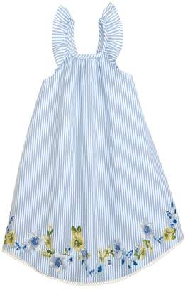 Mud Pie Embroidered Floral Ruffle