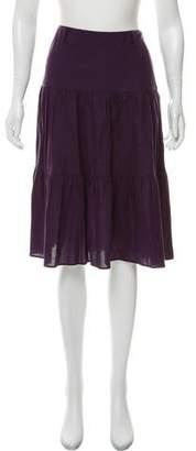 agnès b. Tiered Knee-Length Skirt