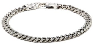 Tom Wood - Oxidised Sterling Silver Curb Chain Bracelet - Mens - Silver