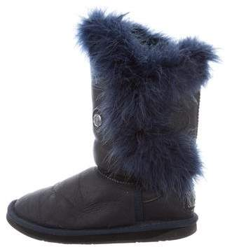 Australia Luxe Collective Leather Feather Boots