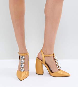 9d28823e275 Asos Design PEACOCK Embellished High Heels