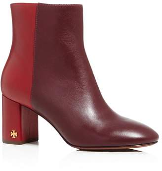 Tory Burch Women's Brooke Two-Tone Leather Booties