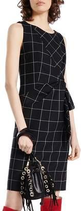Paule Ka Virgin Wool-Blend Windowpane-Check Sheath Dress