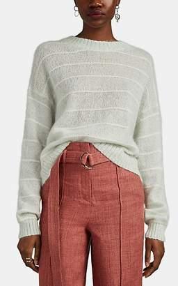 Acne Studios Women's Kassidy Striped Drop-Shoulder Sweater - Lt. Green