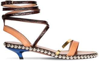 Marni 40mm Studded Leather Sandals
