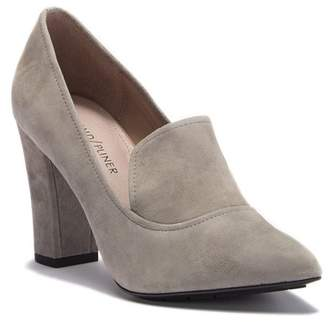 Donald J Pliner Heyde Suede Loafer Block Heel Pump
