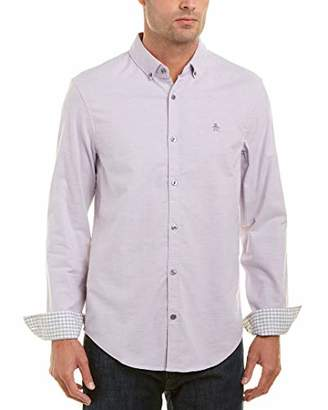 Original Penguin Men's Long Sleeve Basic Oxford Stretch Shirt