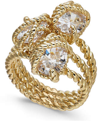 Charter Club Gold-Tone Crystal Wrap Ring, Created for Macy's