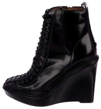 Givenchy Patent Leather Wedge Booties
