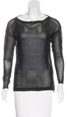Ralph Lauren Black Label Mesh Knit Top