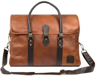 MAHI Leather - Leather Drake Holdall Bag In Vintage Brown With Mahogany Trim
