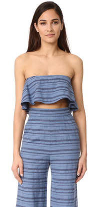 Mara Hoffman Strapless Crop Top $165 thestylecure.com