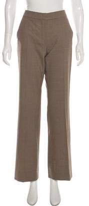 Max Mara Mid-Rise Virgin Wool Herringbone Pants