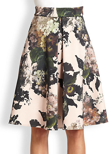 Antonio Marras Neoprene Floral Skirt