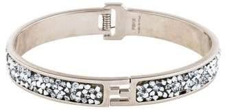 Fendi Crystal Fendista Hinge Bracelet