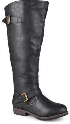 Brinley Co. Women's Wide-Calf Knee-High Studded Riding Boot
