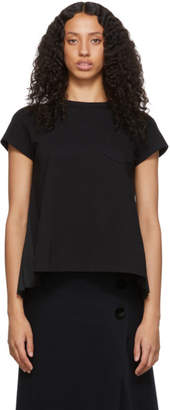 Sacai Black Pleats T-Shirt