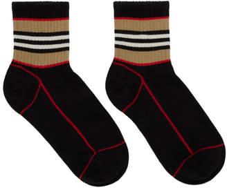 Burberry Black Icon Stripe Sport Socks