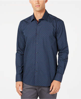 Ryan Seacrest Distinction Men Grid Print Shirt