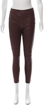 Vince Leather Mid-Rise Leggings