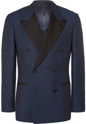 Kingsman Blue Harry Slim-Fit Double-Breasted Wool Tuxedo Jacket