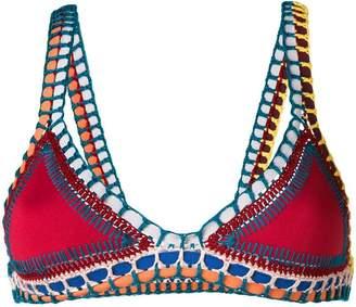 Kiini Embroidered Soley bikini top