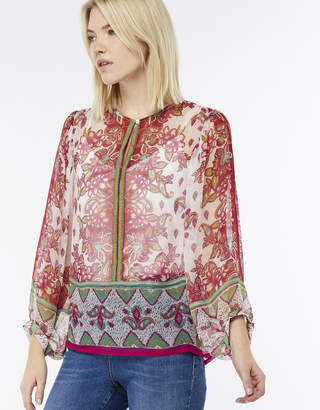 Monsoon Adina Print Placement Blouse