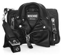 Moschino Biker Jacket Clutch