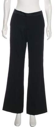 Rebecca Taylor Silk Mid-Rise Flared Pants