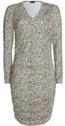 Just Cavalli Leopard-Print Stretch-Knit Dress