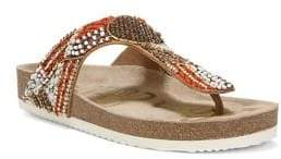 Sam Edelman Olivie 4 Embellished Satin Footbed Sandals